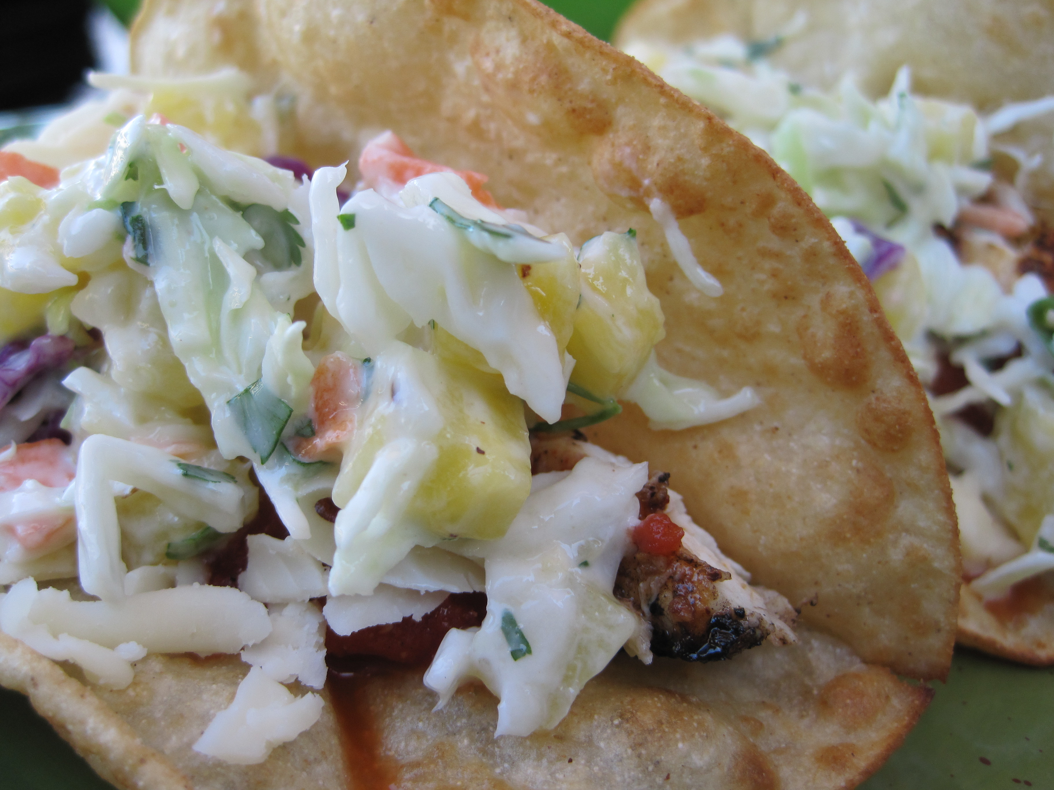 Fresh, Simple and Delicious Grilled Halibut Tacos with Pineapple Slaw ...