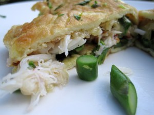 Seafood and Asparagus Omelette