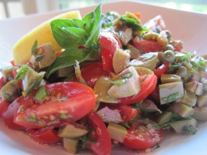 Tomato, Green Olive and Fresh Herb Salsa
