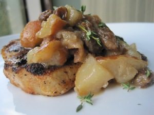 Pork and Pears with Golden Raisins