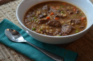 Beef and Barley Soup from Karista's Kitchen