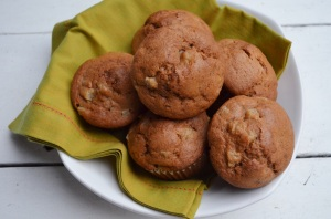 Fresh Pear and Cardamom Muffins