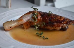Roasted Chicken Leg Quarter with Brandy Butter