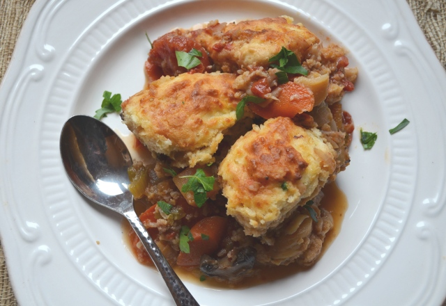 Winter Vegetable Cobbler