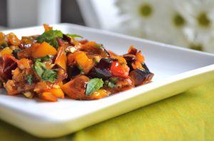 Roasted Mini Pepper and Fresh Basil Relish