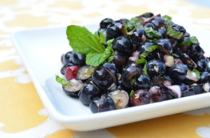 Blueberry Ginger Salsa with Fresh Mint