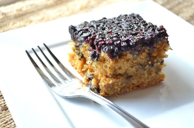 Huckleberry Upside Down Cake
