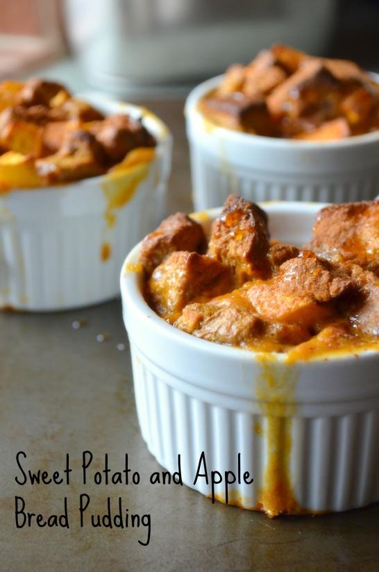 Sweet potato bread pudding
