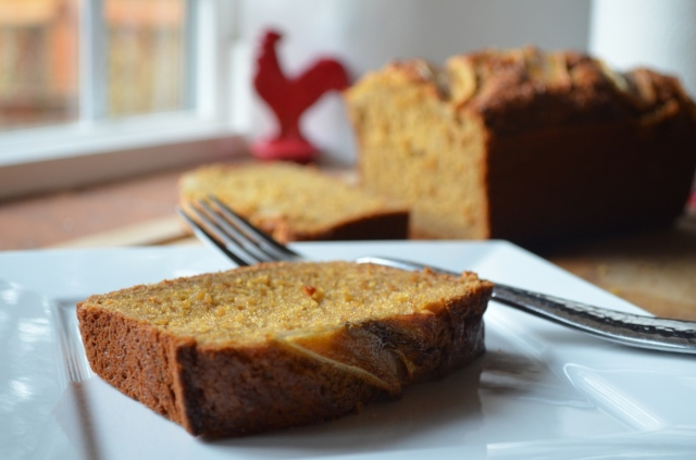 Moist banana bread recipe with fresh ground spices and buttermilk