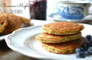 banana maple oatcakes
