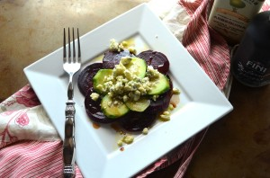 Roasted Beets, Cucumbers, Red Onions, Bleu Cheese Salad