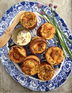 Chive Blossom Popovers