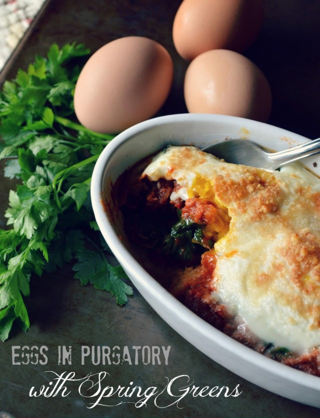 eggs in purgatory, baked eggs in tomato sauce