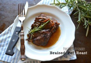 Porcini and rosemary braised pot roast