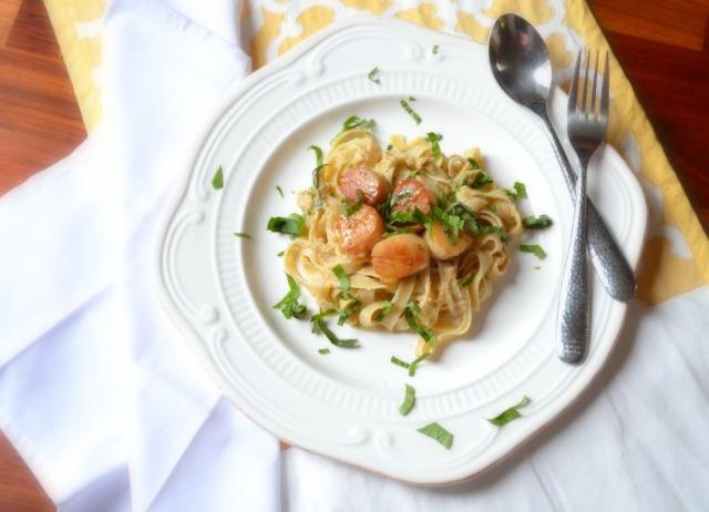 artichoke, lemon and hazelnut pasta